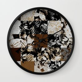 Foliage Patchwork #8 Wall Clock