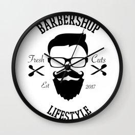 Barber Life | Barbershop Barber T-Shirt Wall Clock