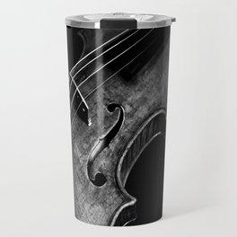 Black and White Violin Travel Mug