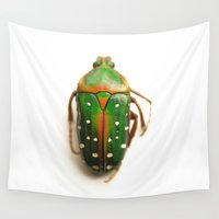 beetle Wall Tapestries featuring Beetle... by Nature In Art...