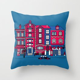 London Facade Throw Pillow