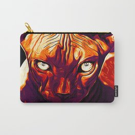 sphynx cat from hell vector art late sunset Carry-All Pouch
