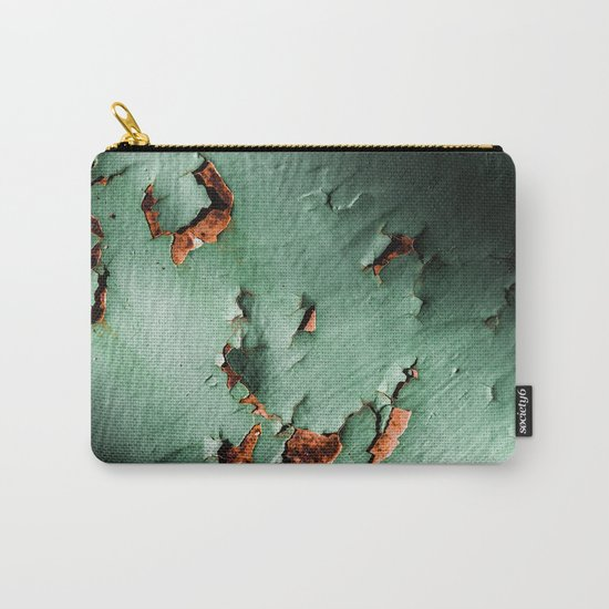 Cool turquoise brown rusty metal Carry-All Pouch