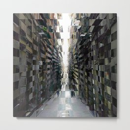 Archival rustic renditions, or windowless notions. Metal Print