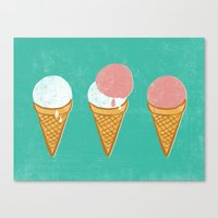 icecream Canvas Prints featuring Icecream by atomic_ocean