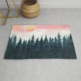 Forest Under the Sunset Rug