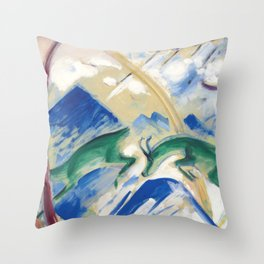 "Franz Marc ""Gemsen (Chamoises)"" Throw Pillow"