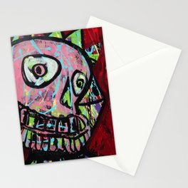 King Skull Stationery Cards