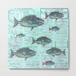 Swimming Against the Tide Metal Print