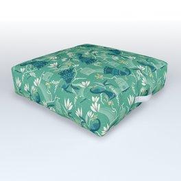 Aviary - Green Outdoor Floor Cushion