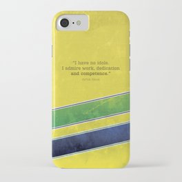 Ayrton Senna - I have no idols iPhone Case