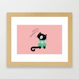 Meowy Christmas Framed Art Print
