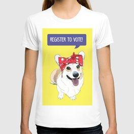 Political Pups - Register To Vote Corgi T-shirt