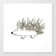 Nail Hedgehog Canvas Print