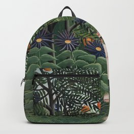 Woman Walking in an Exotic Forest Backpack