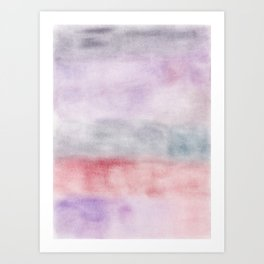 Dreamy Pastel Abstract Colors Art Print