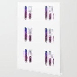 Gradient Grunge American flag Wallpaper