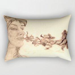 Purple Smoke Rectangular Pillow