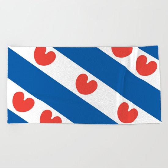 Flag of Friesland Beach Towel
