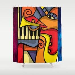 Abstract Jazz art Shower Curtain