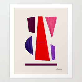 Pieces abstract Art Print