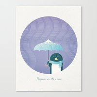 penguin Canvas Prints featuring Penguin by Travel Poster Co.