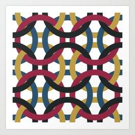Interlocked Art Print