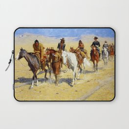 "Frederic Remington Art ""Pony Tracks In the Buffalo Trail"" Laptop Sleeve"