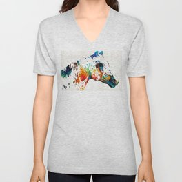 Colorful Horse Art - Wild Paint - By Sharon Cummings Unisex V-Neck