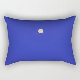 Moonrise at the sea. Blue hour.  Rectangular Pillow