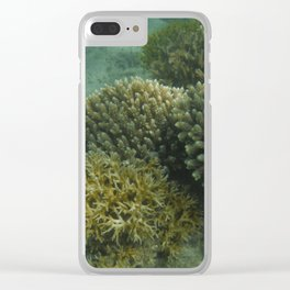 Cool Coral Clear iPhone Case