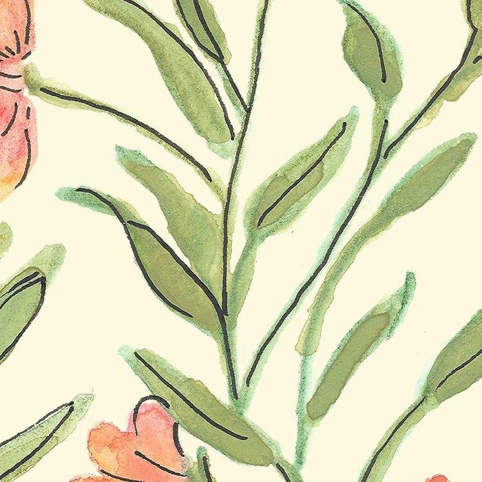 Watercolor Botanical Pattern Leggings