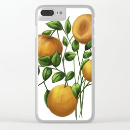 Bouquet of tangerine Clear iPhone Case