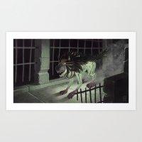 the hound Art Prints featuring Hound by Ben Pannell