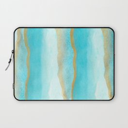 Gold and blue sea Laptop Sleeve