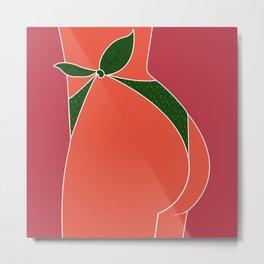 Just Peachy - Fun, Summer, Cute, Peach, Fresh, Butt Metal Print