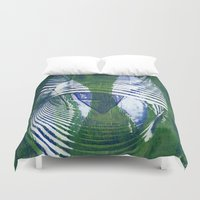 wave Duvet Covers featuring Wave by Sandra Hedicke Clark