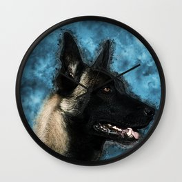 Malinois  Belgian shepherd - Mechelaar Wall Clock