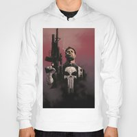 punisher Hoodies featuring Punisher by Dave Seguin
