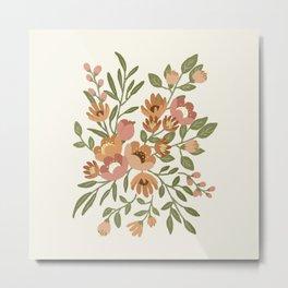 Freya Flowers Metal Print