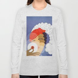 "Art Deco Design ""Powder Puff"" Long Sleeve T-shirt"