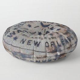 Street Water Meter - New Orleans LA Floor Pillow