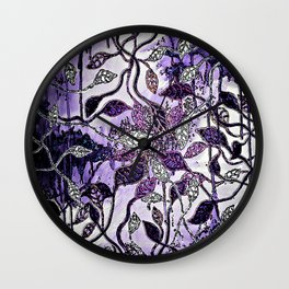 Interlaced Leaves Wall Clock