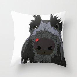 Ladybug Scottie Throw Pillow