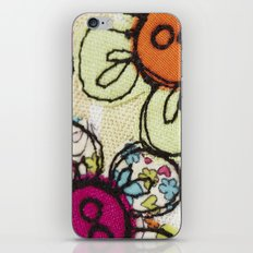 Embroidered Flowers Green iPhone & iPod Skin