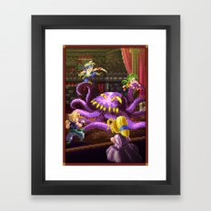 Pixel Art series 3 : Octopus Framed Art Print