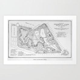 Vintage Map of Prospect Park (1901) Art Print