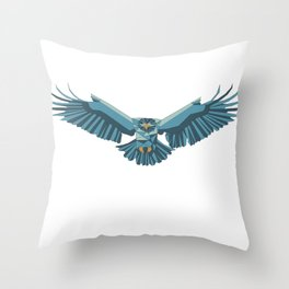 Geometric flying eagle Throw Pillow