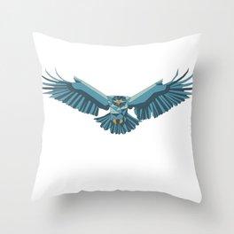 Geometric flying eagle Throw Pillow
