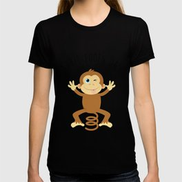Bounce Monkey Behind You - Happy April Fool's Day T-shirt